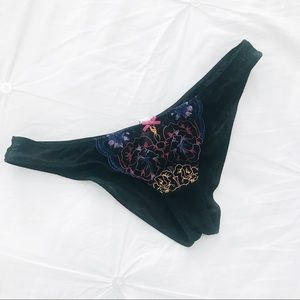 Free People Intimately embroidered panty NWOT